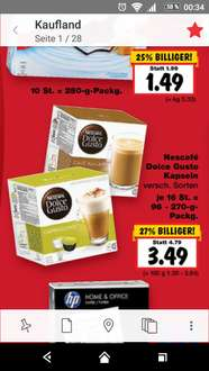 Nescafe Dolce Gusto Kapseln, verschiedene Sorten! (Kaufland)