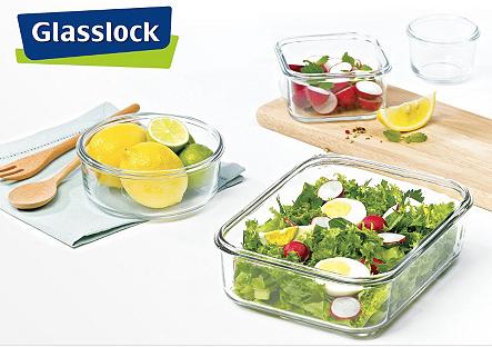 Glasslock Frischhaltebehälter z.B. rechteckig 3er Set für 14,50€ bei vente-privee