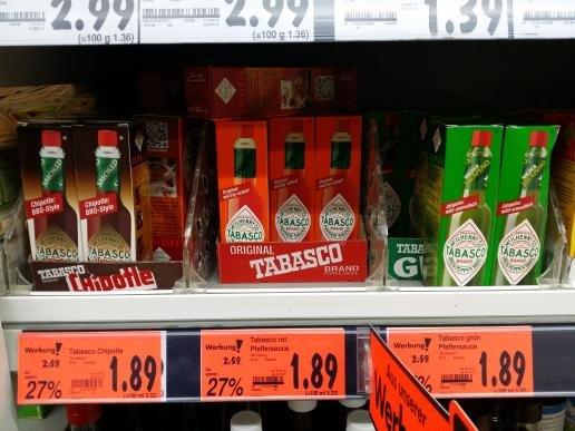 [Kaufland] Original Tabasco alle Sorten 1.89€