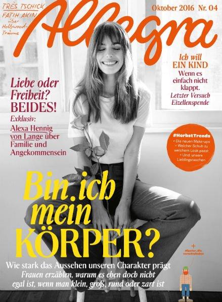 """Frauenmagazin """"Allegra"""" Jahresabo für 30€ + 30€ Amazon Gutschein"""