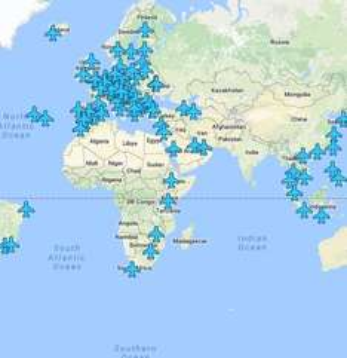 Interaktive Karte für WLAN-Passwörter für über 130 verschiedene Flughäfen!