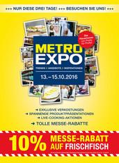 METRO-Rabatt (13.10-15.10.16): 30% Textil, 20% Non Food, 10% Technik, 10% Lebensmittel z.T.
