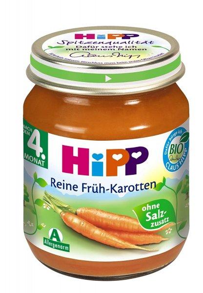 (Amazon Sparabo) Hipp Reine Früh-Karotten, 6-er Pack (6 x 125 g) - Bio für 2,55€