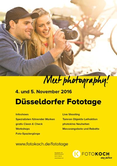 Düsseldorfer Fototage 4. und 5. November 2016 mit CLEAN und CHECK