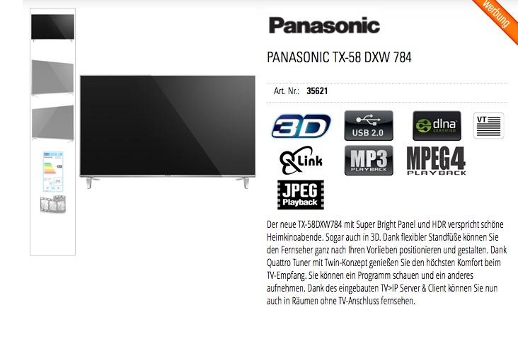 Panasonic TX-58 DXW 784
