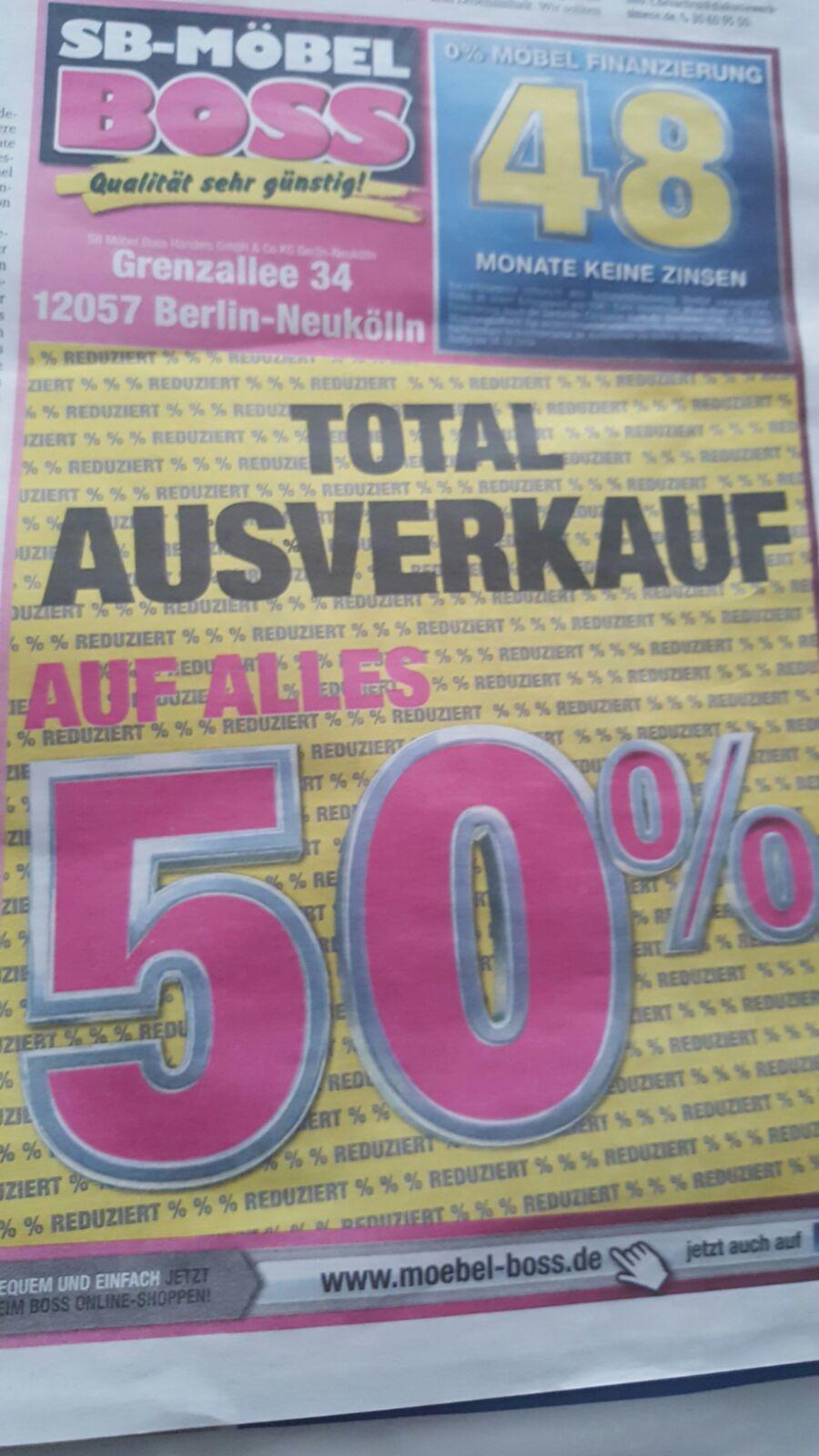 LOKAL Möbel Boss Berlin Neukölln - 50% auf Alles