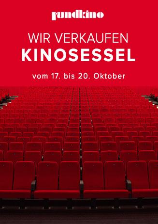Das Rundkino Dresden verkauft vom 17.-20. Oktober Kinosessel für 10€/Stück