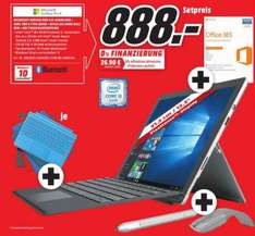 [Lokal MM Sulzbach MTZ] Surface Pro 4 Bundle i5 128GB 4GB RAM Bundle mit Type Cover, Arc Maus, Office365