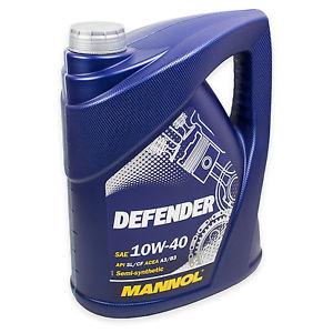 5 Liter Mannol Defender 10W-40 für 11,95 frei Haus