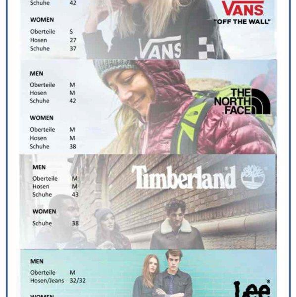 [lokal] [münchen] -50% oder mehr auf Alles beim Muster-Sale von Vans, The North Face, Timberland und Lee am14./15.10.