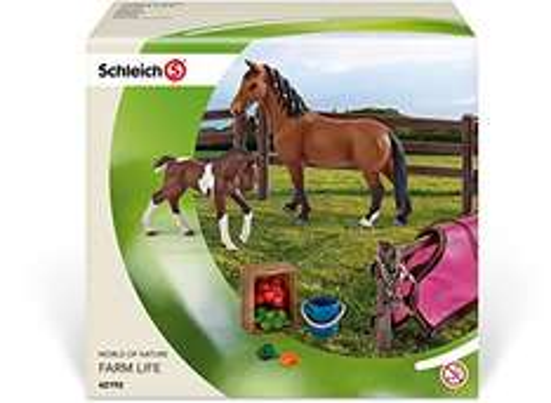 [Amazon Prime exklusiv Deal] Schleich Pferdekoppel mit 2 Pferden und Zubehör für 10 €, PVG 15 €