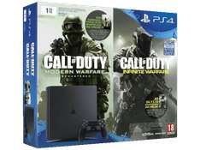 [Saturn Weekend Deals] SONY PlayStation 4 1TB Slim + Code für Call Of Duty: Modern Warfare und Call Of Duty: Infinite Warfare für 299,-€