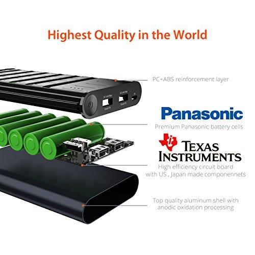 [Amazon Marketplace] Jackery Titan 20100mAh Powerbank aus Aluminium (Technik von Texas Instruments, Zellen von Panasonic) für 26,39€