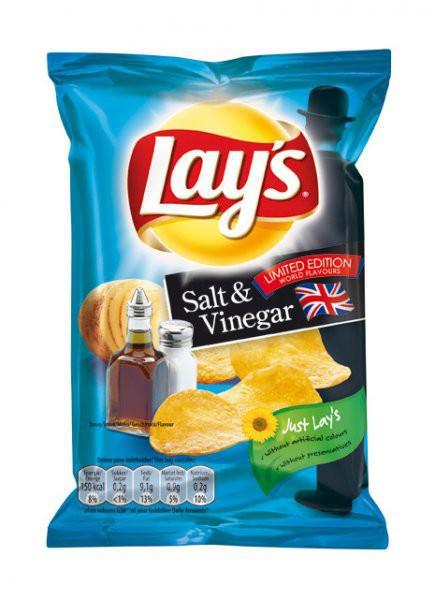 48 Mini Beutel Lays Salt und Vinegar (27,5g) für je 0,30 EUR