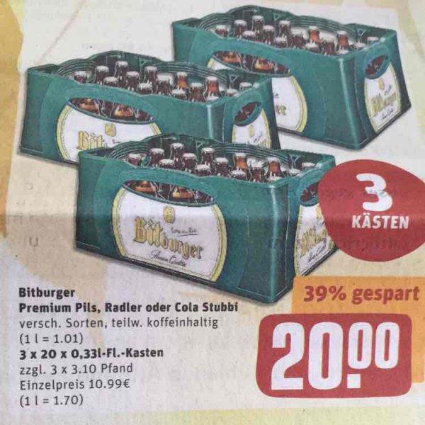 3 Kästen Bitburger [Regional] in Dudenhofen (Pfalz)