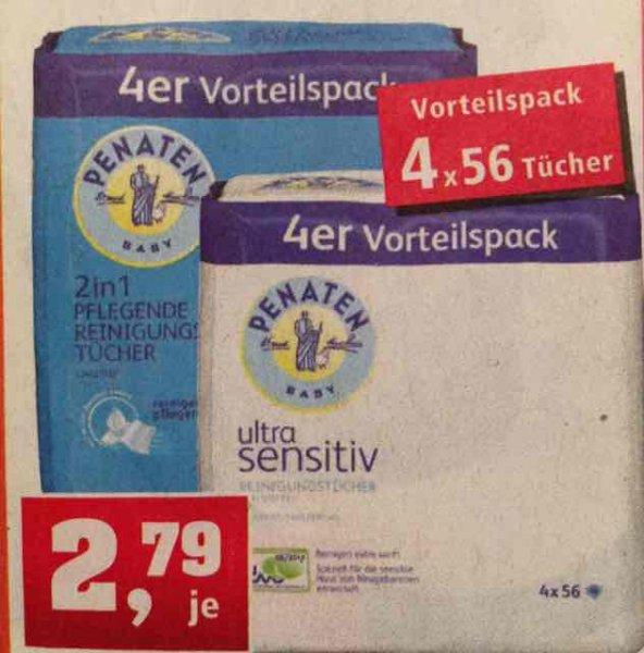 Penaten Feuchttücher 4er-Pack für 2,79€ bei Thomas Philipps