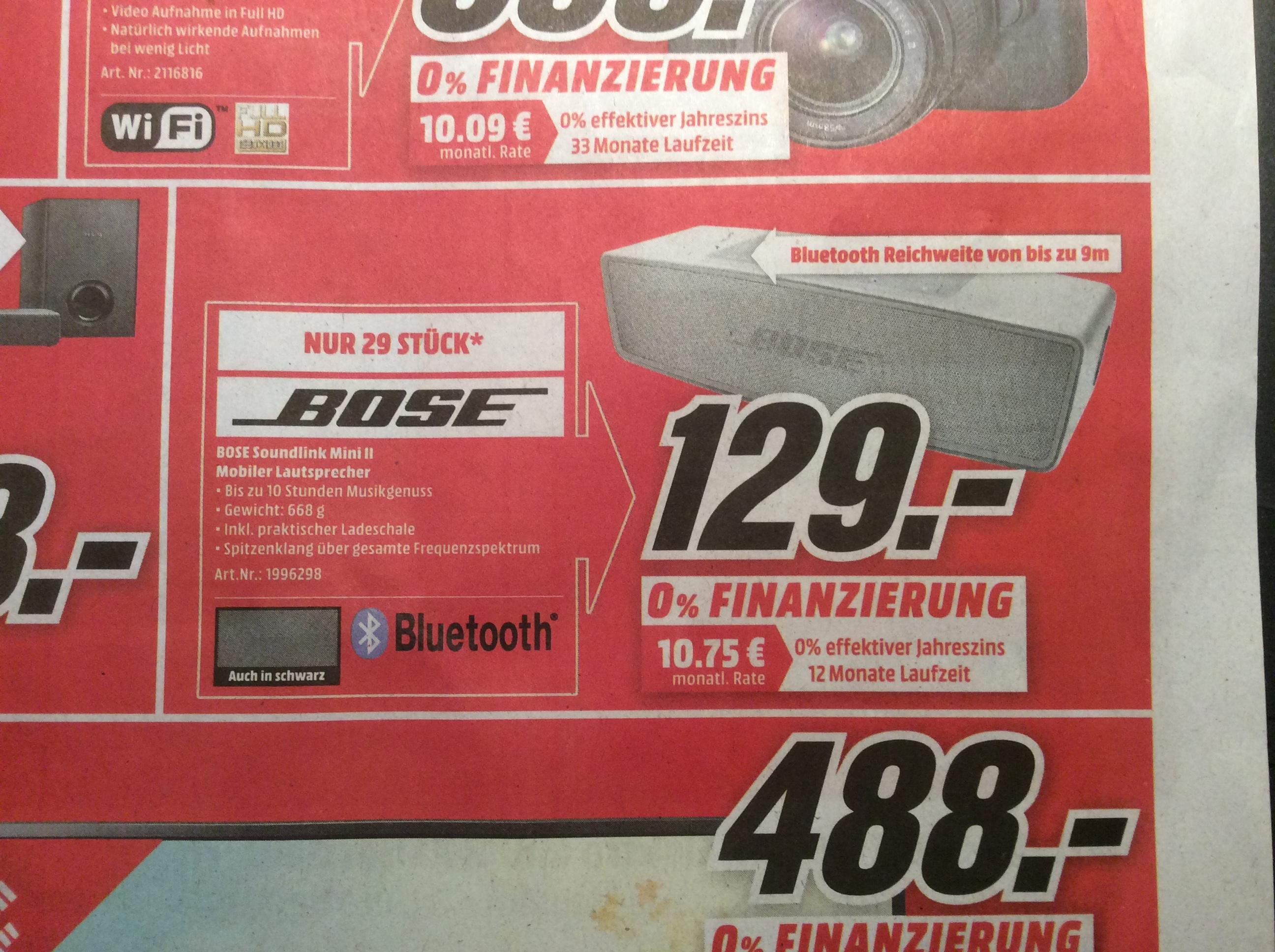 [lokal MM Kaiserslautern] - Bose Soundlink Mini II für 129€