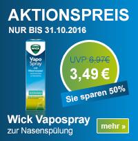 Sanicare - Wick Vapospray - UVP : 6,97 - Nur bis 31.10.2016