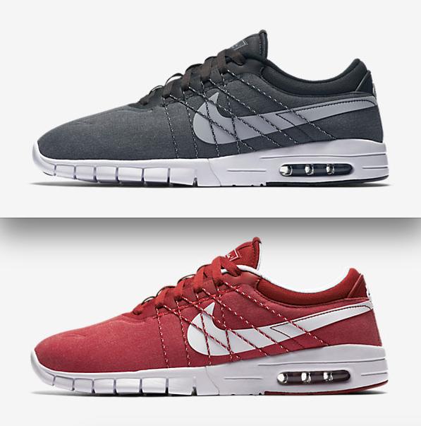 Nike SB Koston Max Sneaker (rot und schwarz)