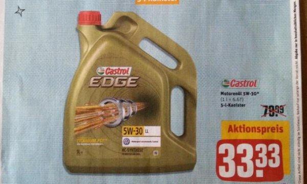 5 L Castrol Edge Titanium FST 5 W -30 LL für 26.66 € @ REWE-CENTER