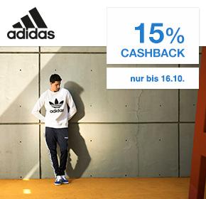 15% Cashback auf alle* adidas Bestellungen (*ausgeschlossen sind NMD, Yeezy and UltraBoost Produkte) [Shoop.de]