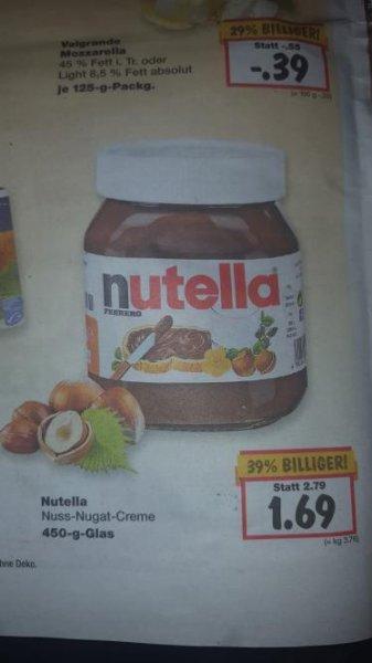 Nutella 500 gr für 1,69€ bei Kaufland