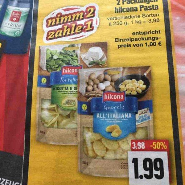 2 Packungen hilcona-Pasta (verschiedene Sorten) - Edeka in Nordbayern