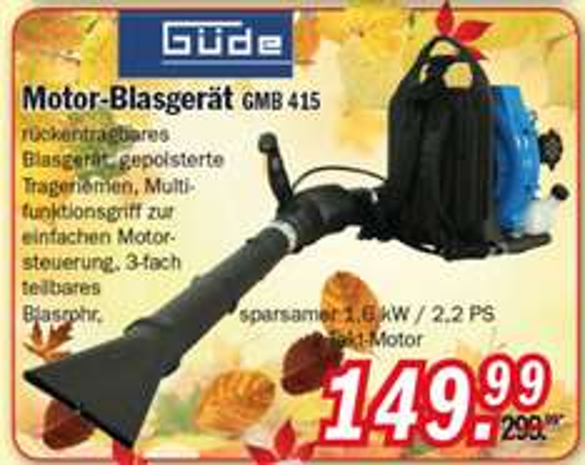 Zimmermann Güde GMB 415 Motor-Blasgerät 149,99€ LOKAL NOH 142,49€