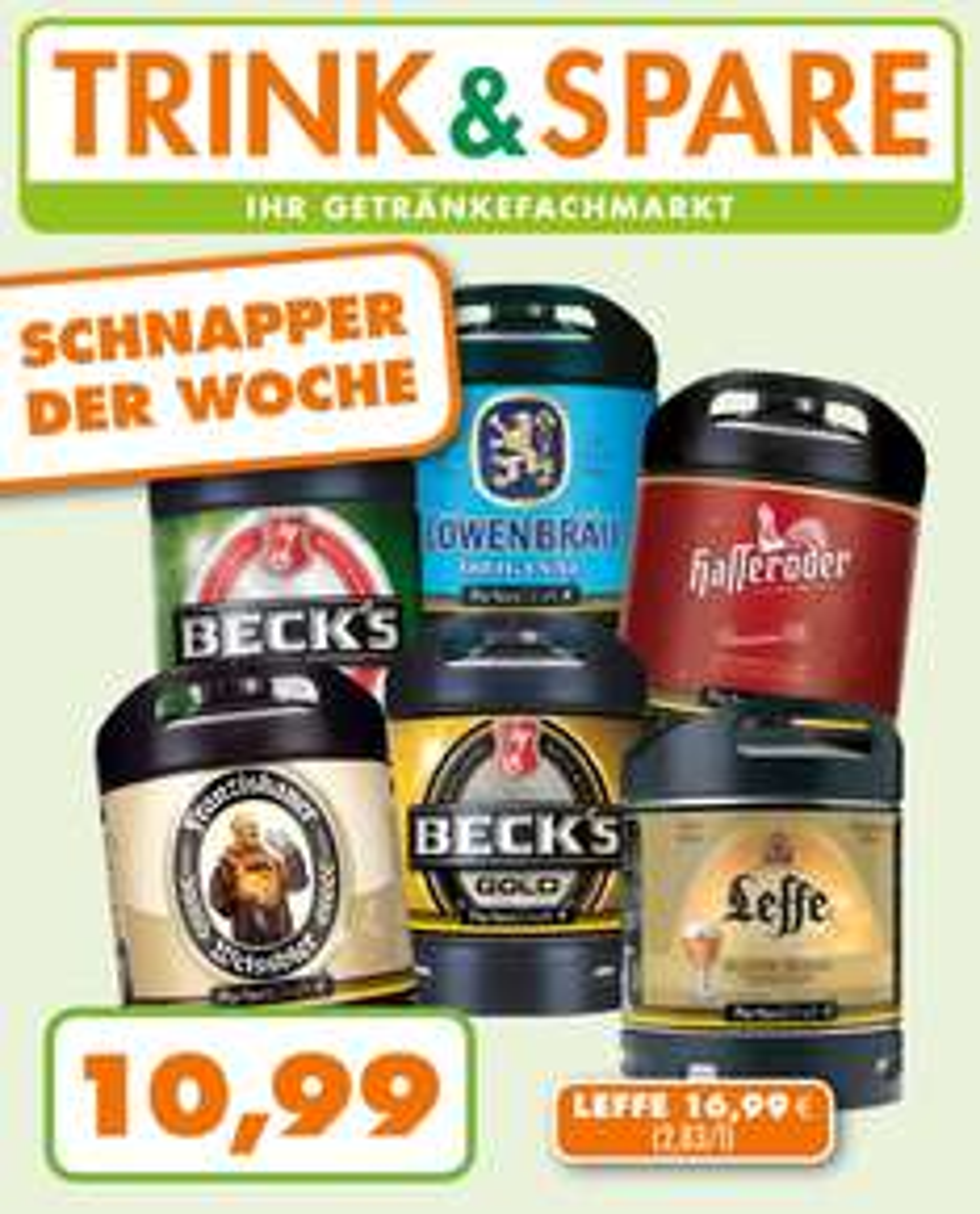 TRINK & SPARE - Perfect Draft 6 Liter Fässer versch. Sorten für je 10,99€