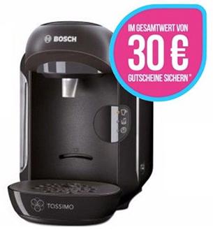 Bosch Tassimo VIVY TAS1252 + 30€ (6x5€) Coupons ab 20.10.16 für 32,99€ [Kaufland]