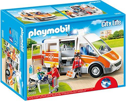 (amazon.de) PLAYMOBIL 6685 - Krankenwagen mit Licht und Sound