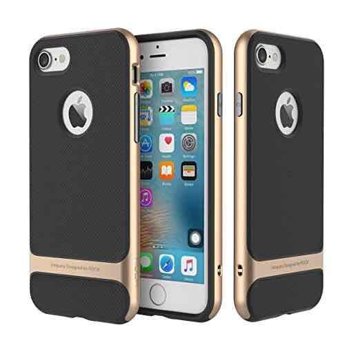 [Amazon Prime]  Rock Silikon Tasche Bumper Hülle für iPhone 7 / 7 Plus verschiedene Farben