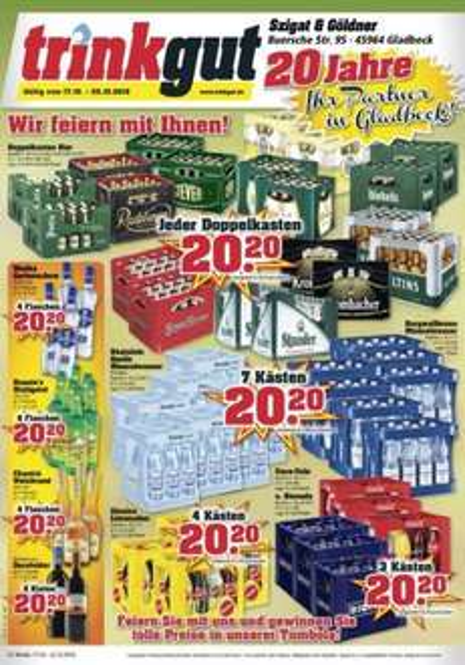 [Lokal] Trinkgut Gladbeck 20 Jahre Jubiläumsangebote