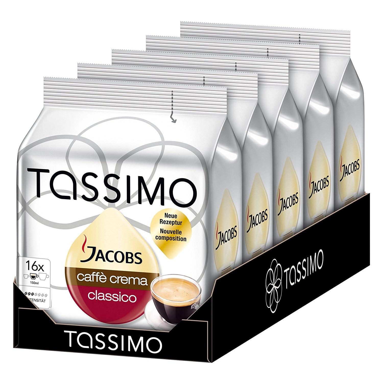 [Amazon Sparabo] Tassimo Kapseln - Verschiedene 5er Packs für 13€ -> 2,60€ pro Packung