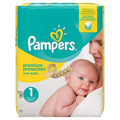 ( SparAbo ) Pampers Premium Protection New Baby Windeln, Halbmonatspackung, Größe 1 (Newborn), 2-5 kg, (1 x 72 Windeln)