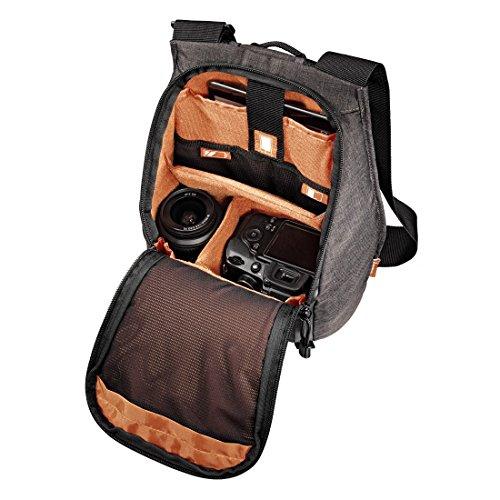 HAMA - kleiner Kamera Rucksack / Tasche für Foto + 1 Objektiv - günstig bei Amazon mit Prime