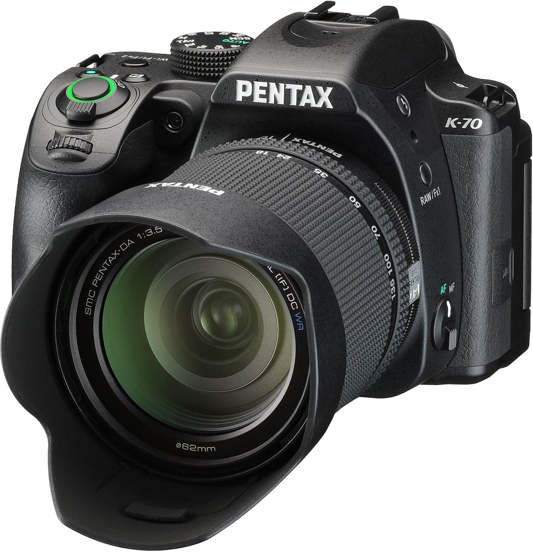 Ricoh Pentax K-70 DSLR Spiegelreflex Kamera mit 18-135mm WR Objektiv