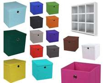Aufbewahrungsbox Faltbar, mit und ohne Deckel, in versch. Farben