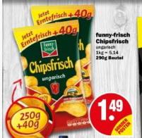 [NP Markt Hiddenhausen/Herford evtl. Bw.] Funny Frisch Chipsfrisch Ungarisch 290g (statt 250g) für 1,49