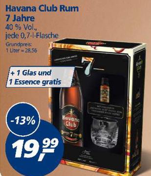 [Real] Leckerer Havana Club 7 Años 0,7 l (40 % Vol.) im Set + Glas + Rum-Essence; PVG Idealo (ohne Glas und ohne Essence) 23,64 €