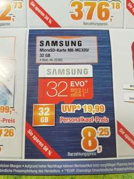 Samsung micro Sd Evo+ 32 gb bei Expert Bening