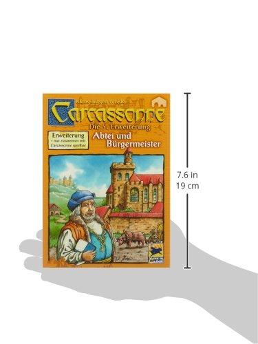 """Hot,Hot,Hans im Glück 48177 - Carcassonne 5. Erweiterung """"Abtei und Bürgermeister"""""""
