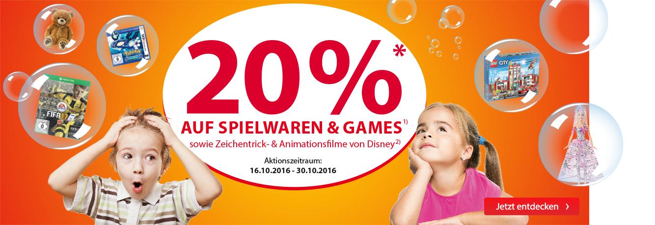 [Müller] 20% Auf Spielwaren und PC- und Konsolenspiele
