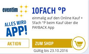 [Eventim][Payback] 7,5% Ersparnis auf alle Eventim Tickets