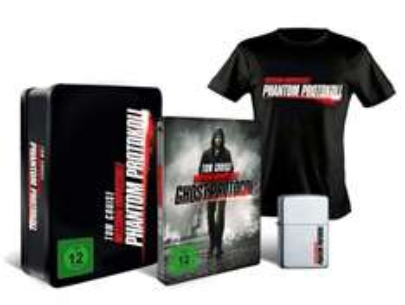 "(Alphamovies) ""M:I 4 - Phantom Protokoll"" Steelbook Collector´s Edition (Blu-ray) mit Zippo + Shirt"