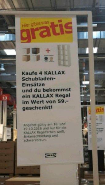 Kallax Regal beim Kauf von 4 Kallax Schubladen gratis in Hannover