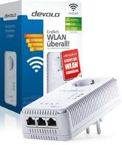Devolo dLAN 500 AV Wireless+ Powerline PowerLAN-Adapter [Amazon Prime]