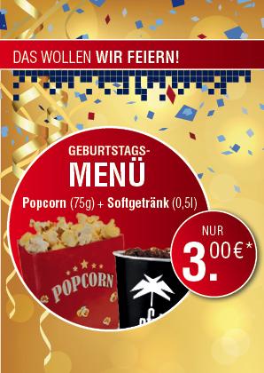 [UFA-Palast Stuttgart] Popcorn 75g + 0,5 Softgetränk 3€ | Am 23.10 Ausgewählte Filme 3€