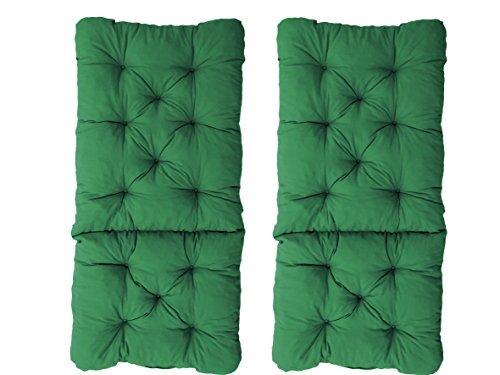 [Prime] Ambientehome Auflage Kissen, grün, 2er Set