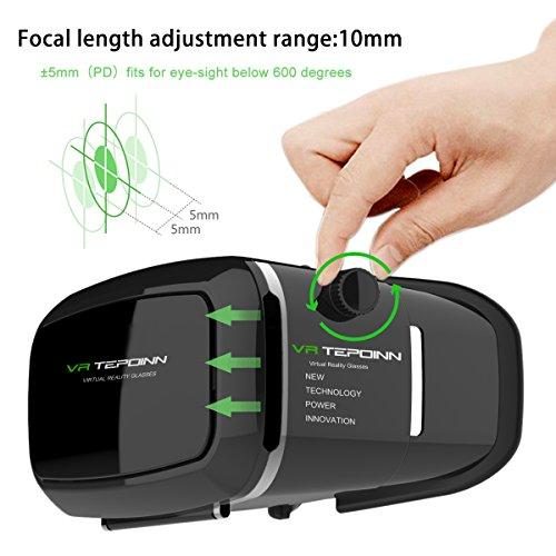 3D VR Brille für Smartphones mit 4-6 Zoll Größe (ca. 300 Bewertungen)